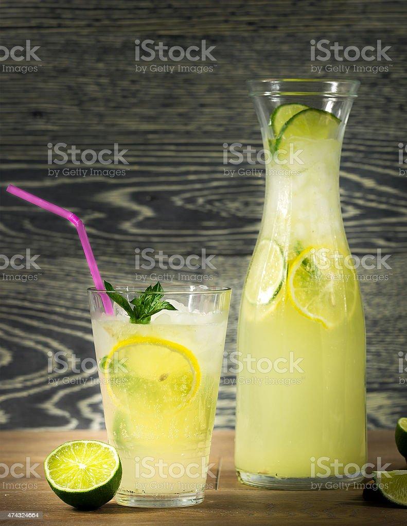Fresh lemonade drink stock photo
