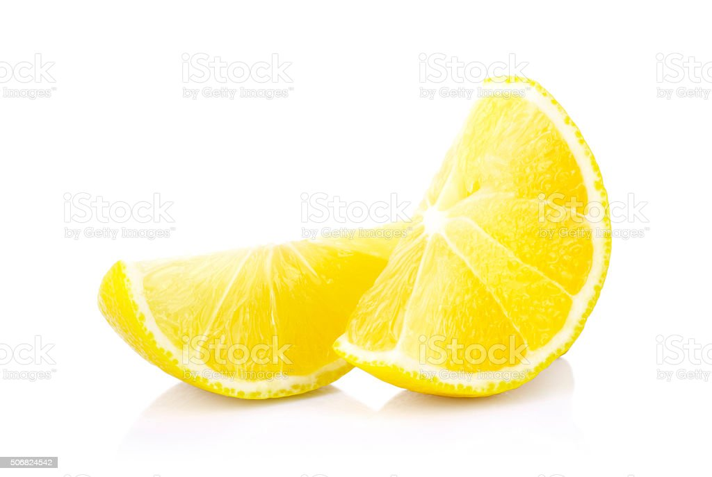 Fresh lemons on a white stock photo