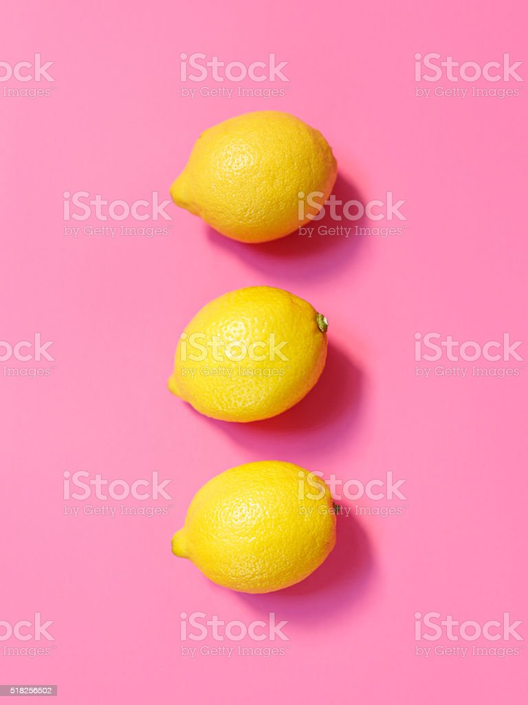 Fresh lemons stock photo
