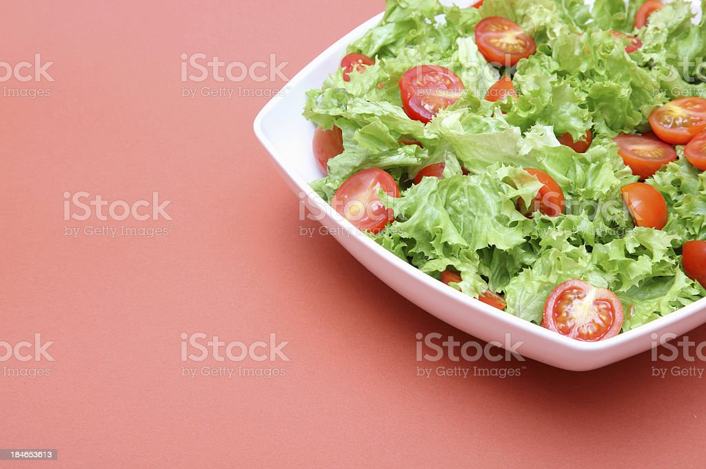Fresh lettuce with tomatoes royalty-free stock photo