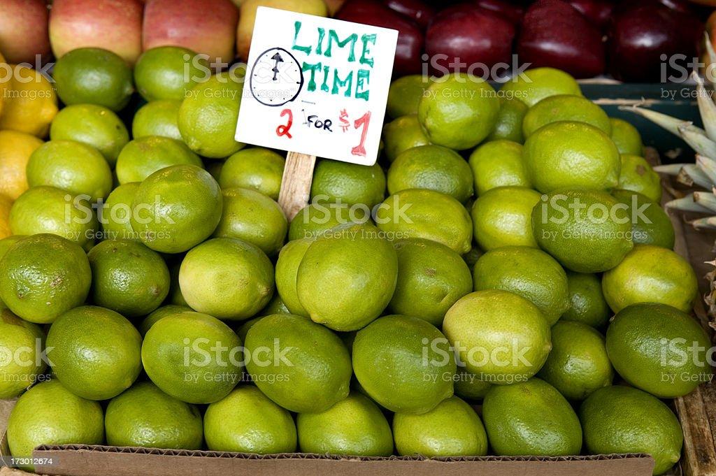 Fresh Limes at Market stock photo