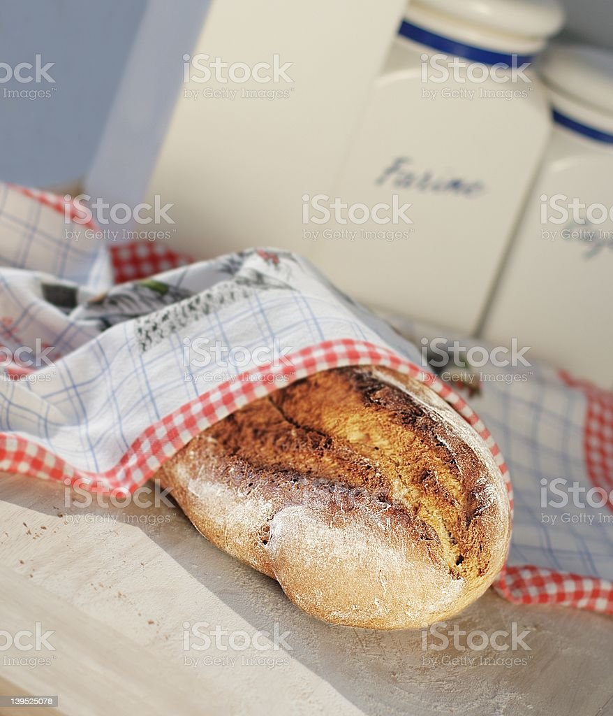 Fresh Loaf of Bread royalty-free stock photo