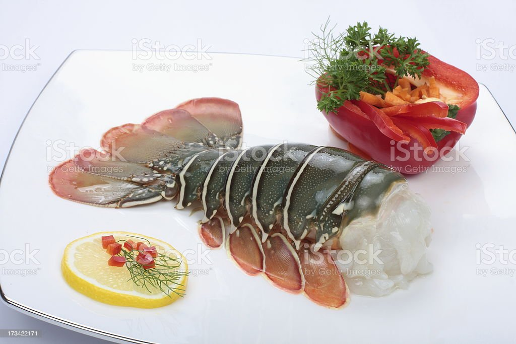 Fresh lobster tail. royalty-free stock photo