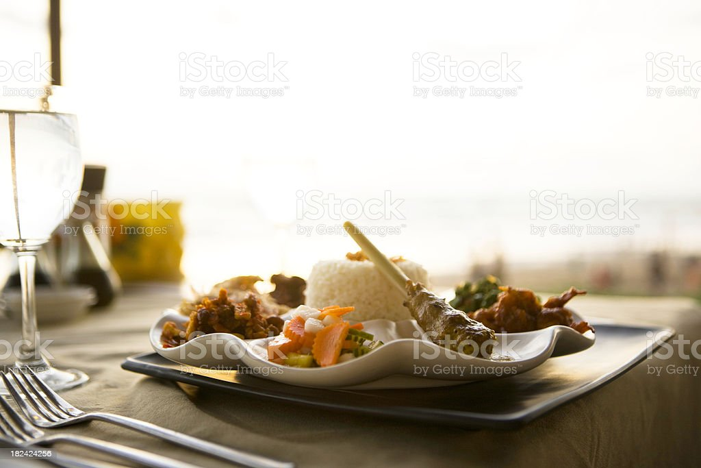Fresh lunch royalty-free stock photo