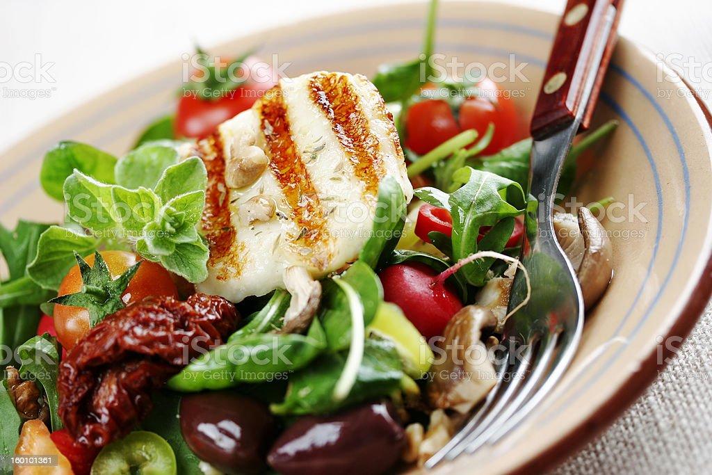 fresh luxurious salad stock photo