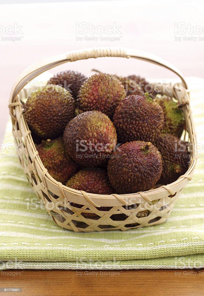 fresh lychee royalty-free stock photo