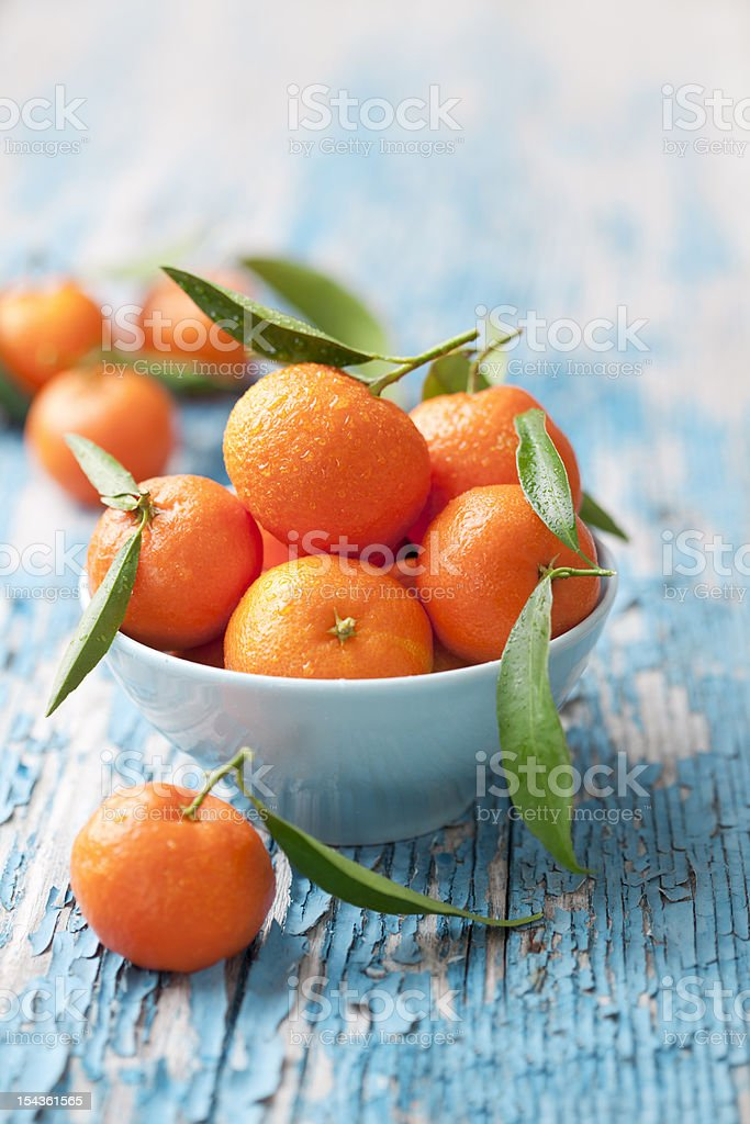fresh madarins stock photo