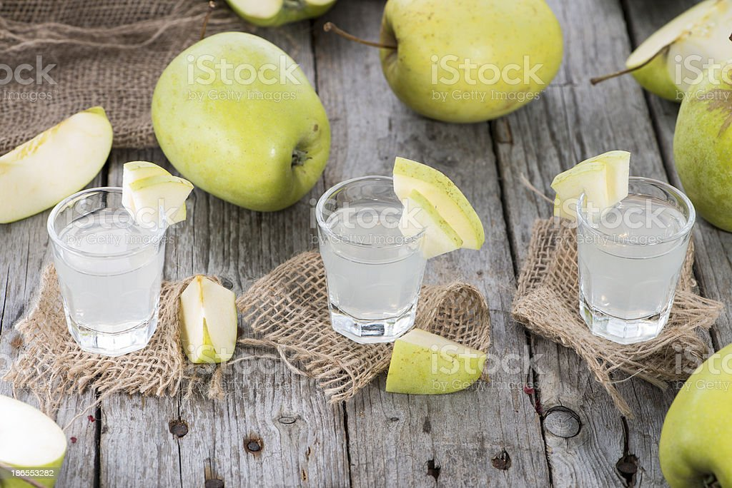 Fresh made Apple Liqueur royalty-free stock photo