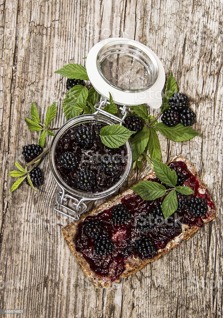 Fresh made Blackberry Jam stock photo