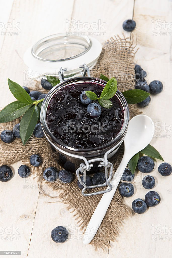 Fresh made Blueberry Jam royalty-free stock photo