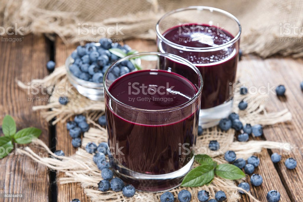 Fresh made Blueberry Juice stock photo