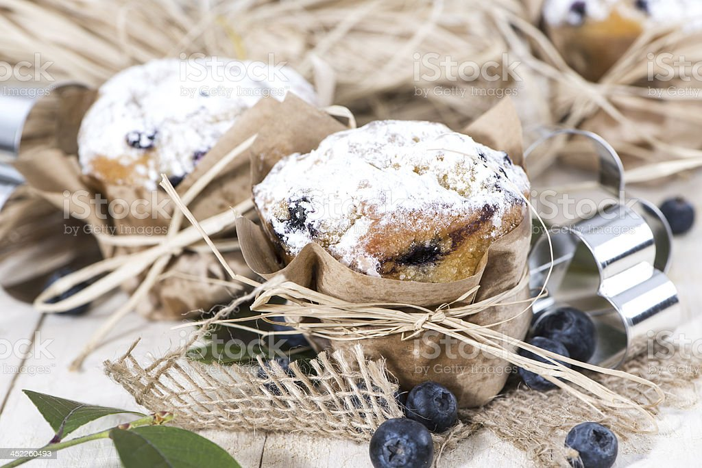Fresh made Blueberry Muffins royalty-free stock photo
