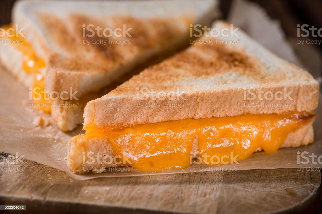 Fresh made Cheese Sandwich stock photo