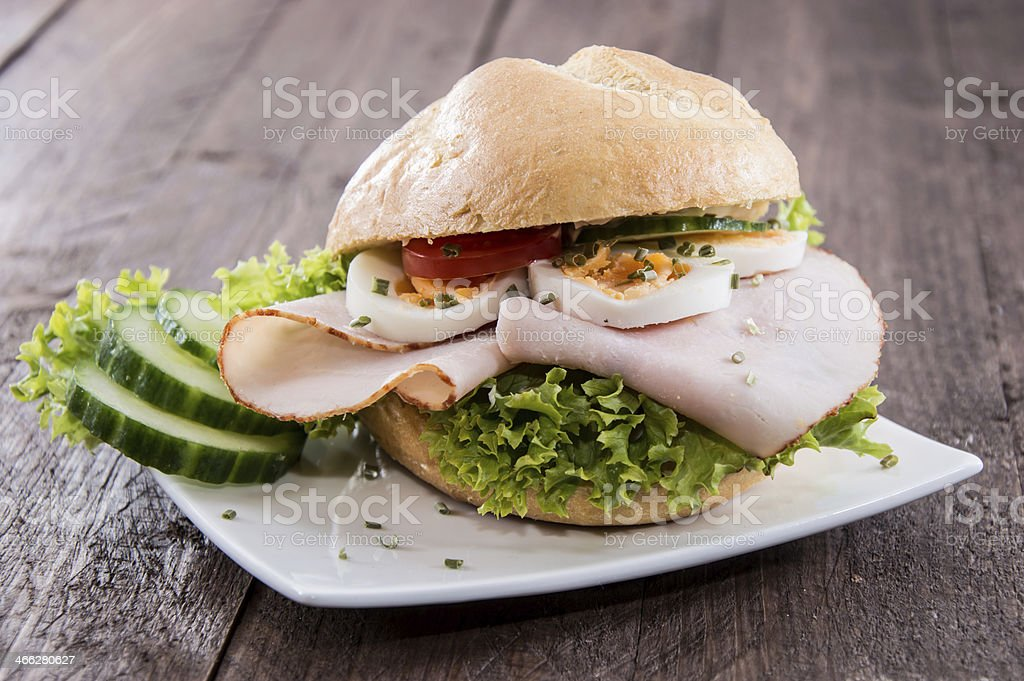 Fresh made Chicken Sandwich royalty-free stock photo