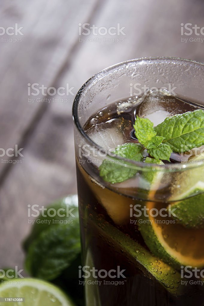 Fresh made Cocktail (Cuba Libre) royalty-free stock photo