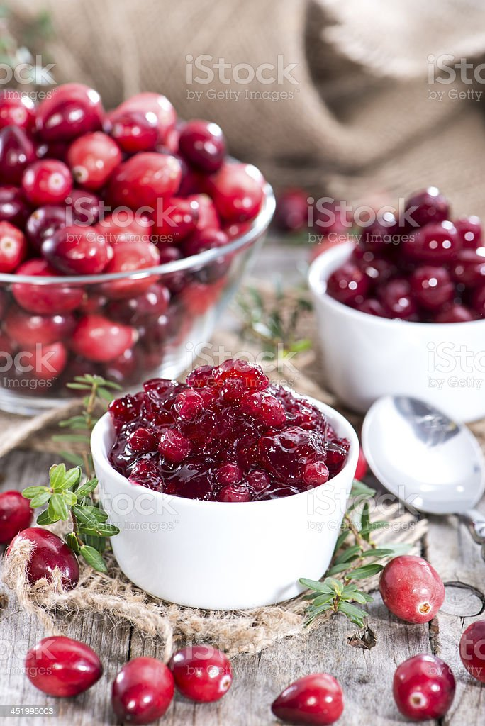 Fresh made Cranberry Jam royalty-free stock photo