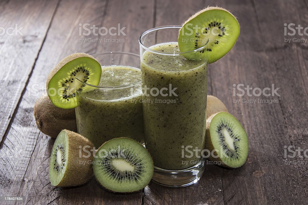 Fresh made Kiwi Shake royalty-free stock photo