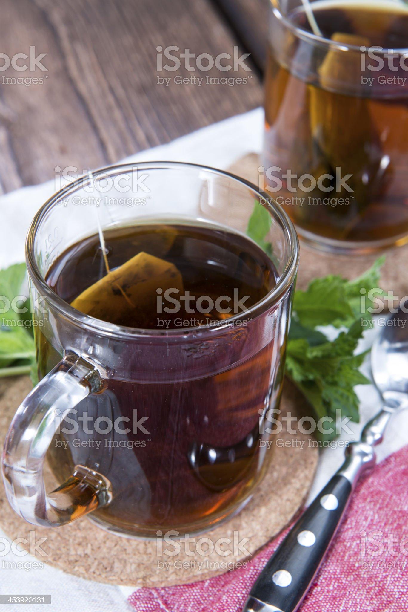Fresh made Mint Tea royalty-free stock photo
