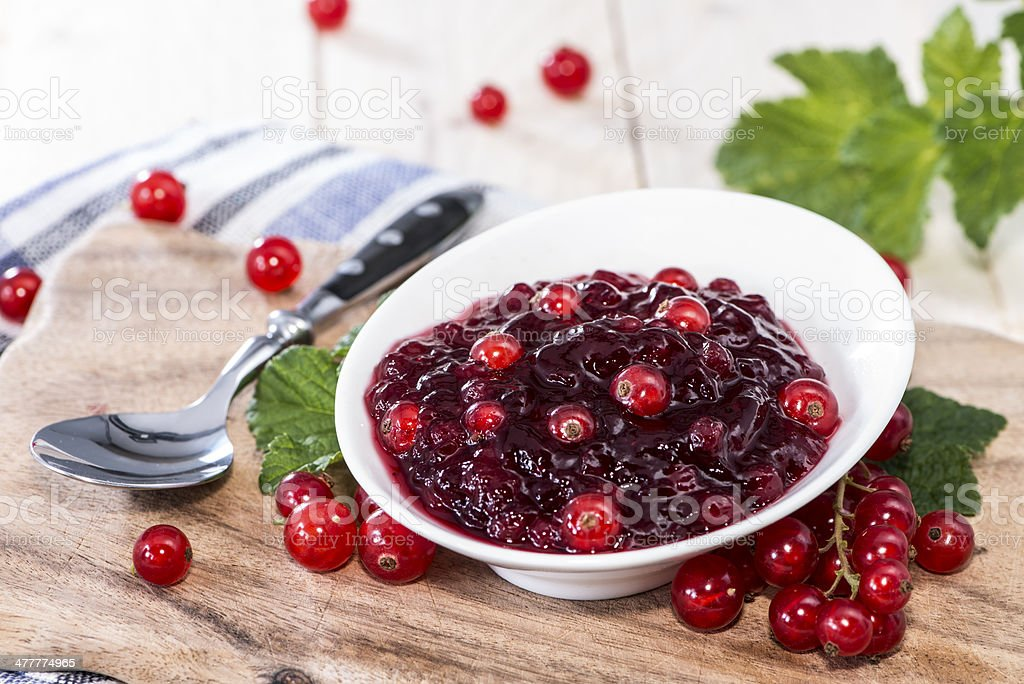 Fresh made Red Currant Jam royalty-free stock photo