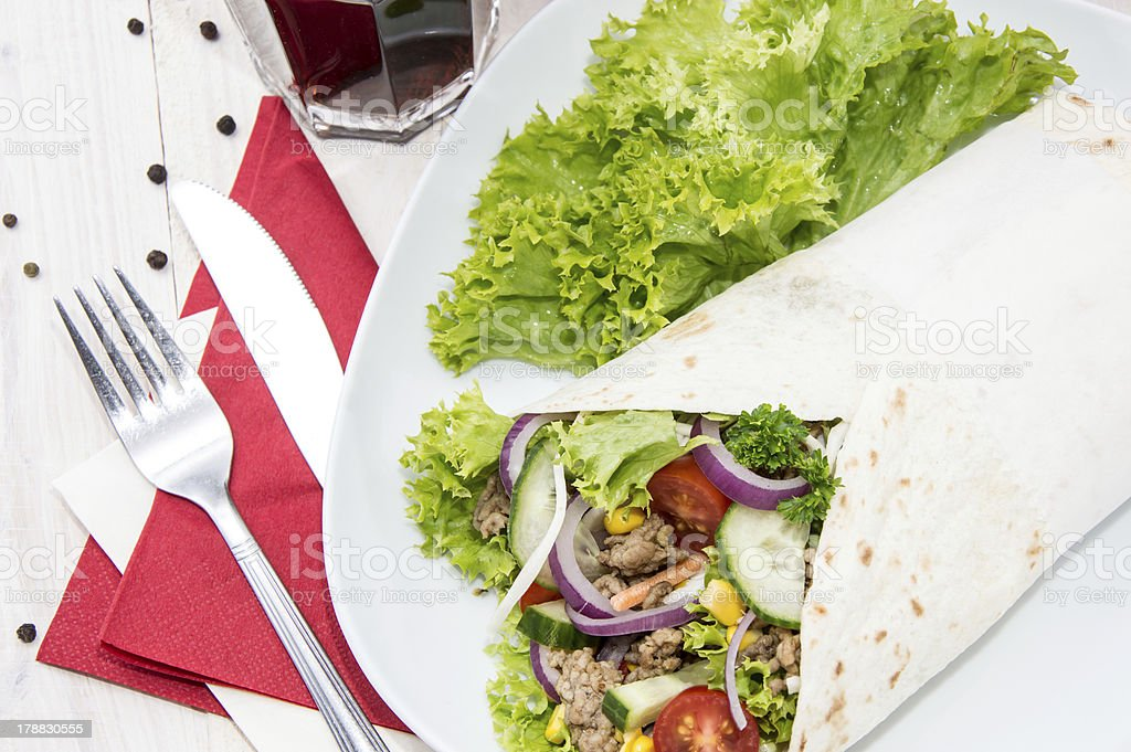Fresh made Wrap royalty-free stock photo
