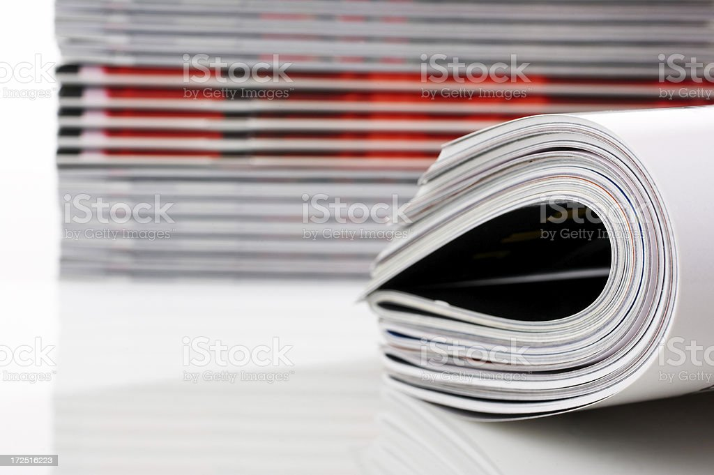 Fresh Magazines royalty-free stock photo