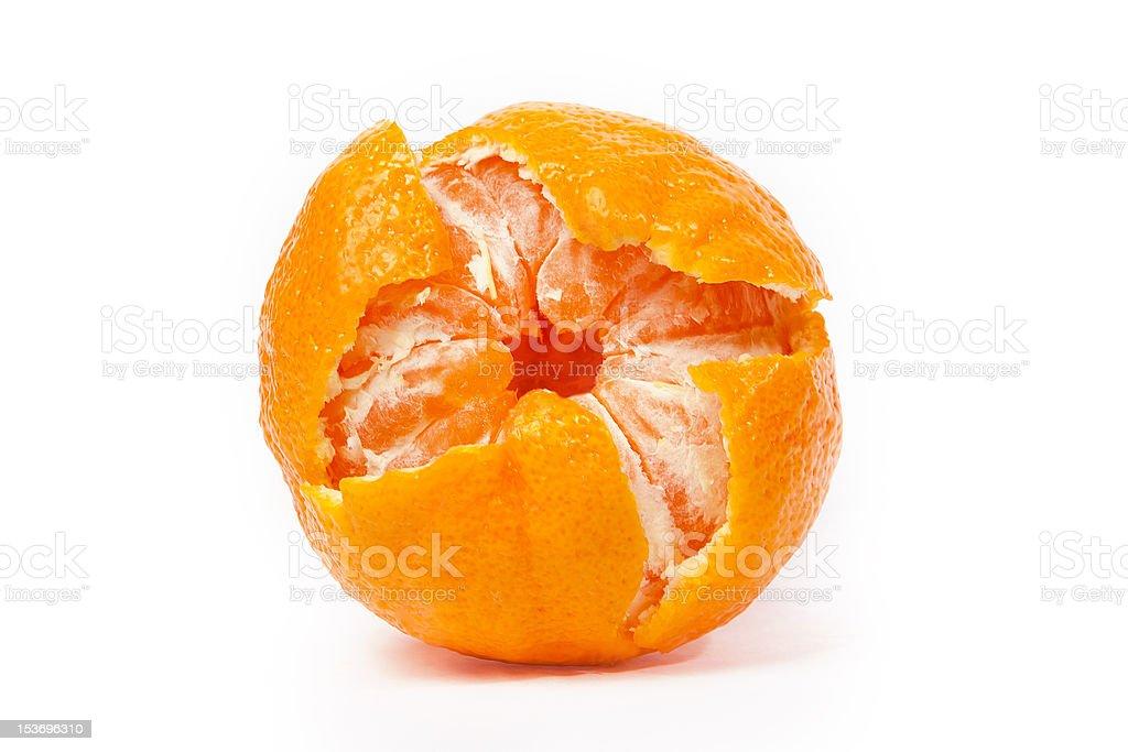 Fresh mandarine isolated on white royalty-free stock photo