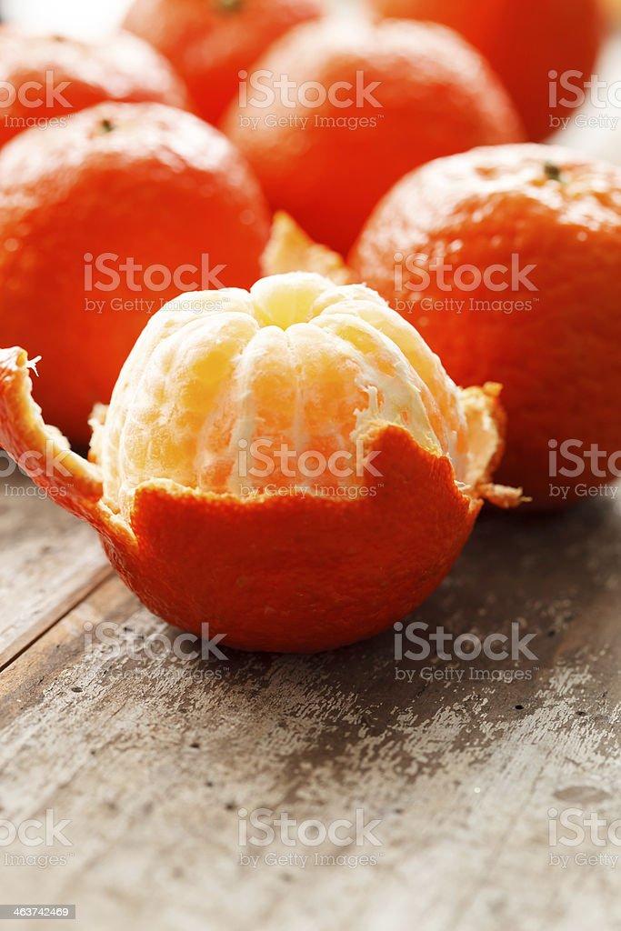 fresh mandarines royalty-free stock photo