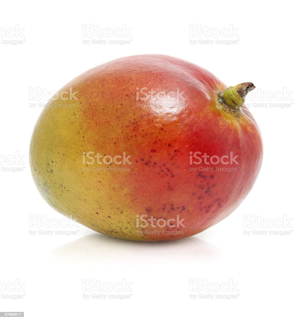 fresh mango fruit isolated on white stock photo