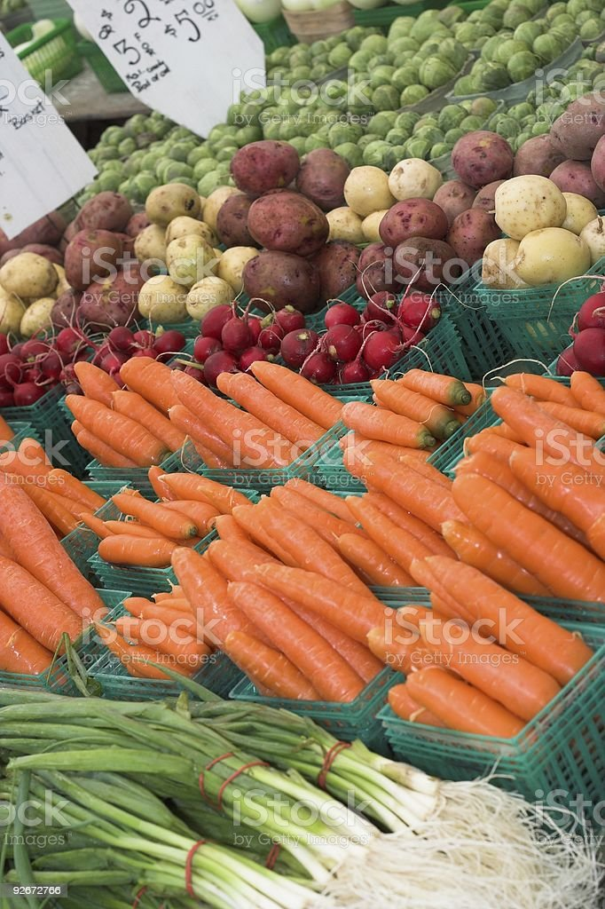 Fresh Market Vegetables royalty-free stock photo