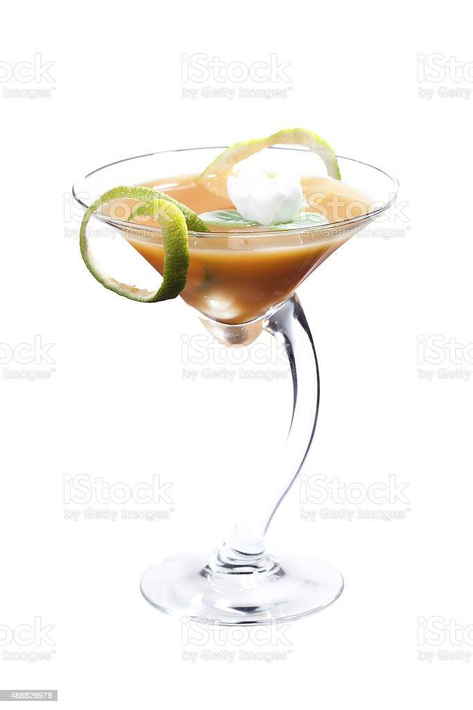 Fresh martini cocktail stock photo