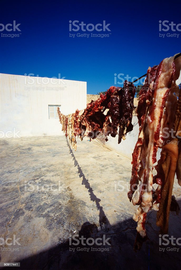 fresh meat | preperation for eid ul-adha stock photo