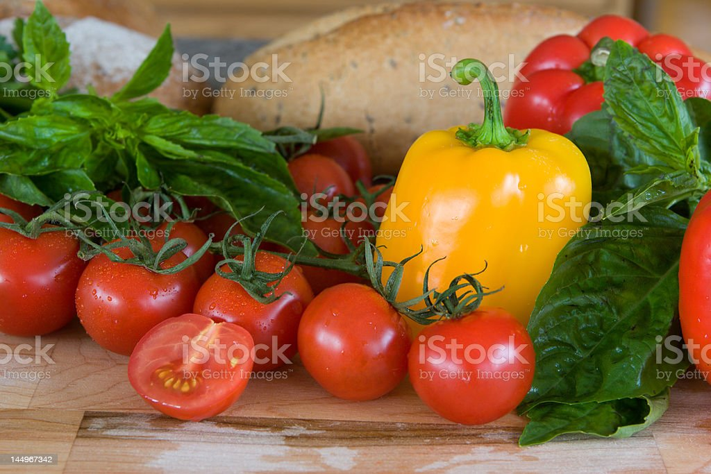 fresh mediterranean vegetables royalty-free stock photo