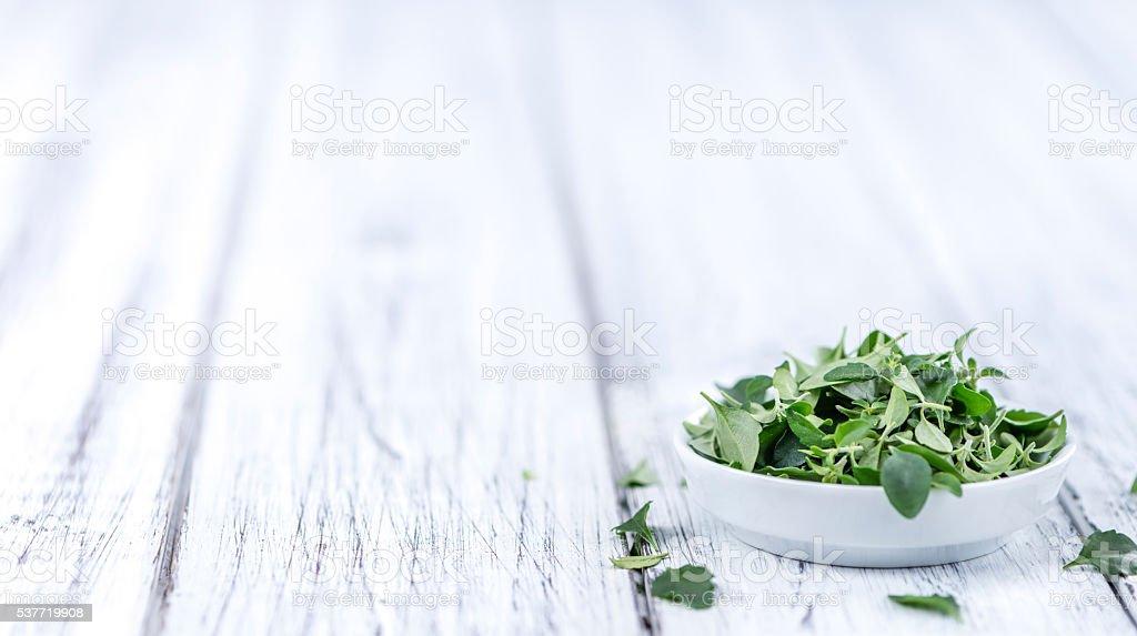 Fresh Menthol Leaves (selective focus) stock photo