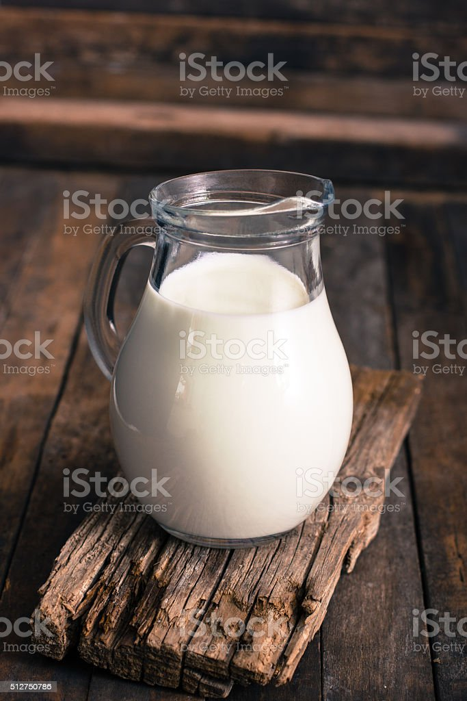 Fresh milk on the table stock photo