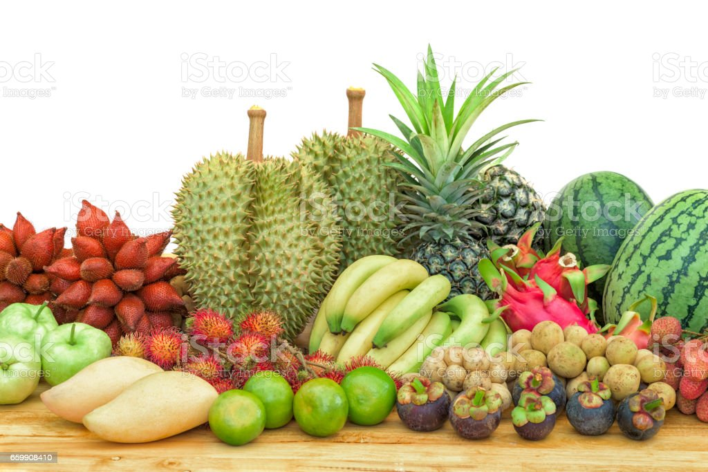 Fresh mixed fruits stock photo