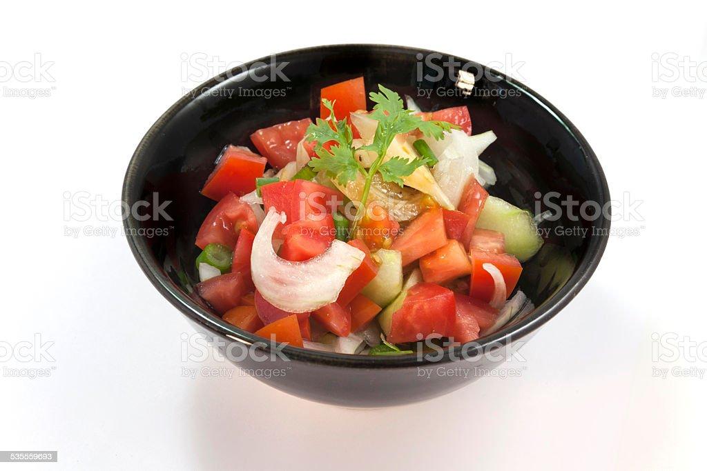 Fresh mixed organic vegetable salad royalty-free stock photo