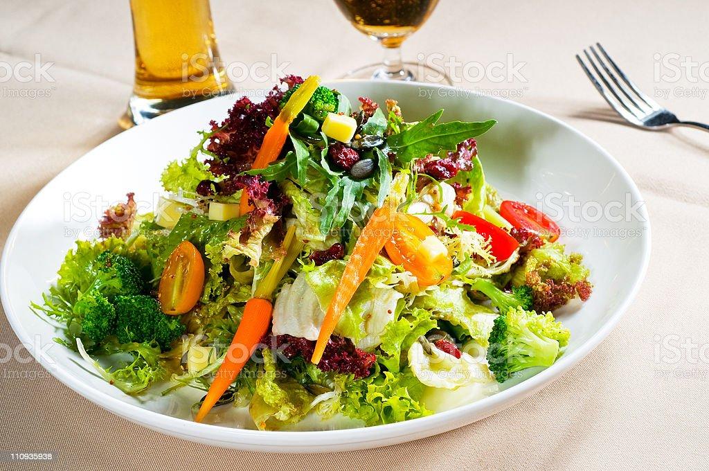 fresh mixed salad stock photo