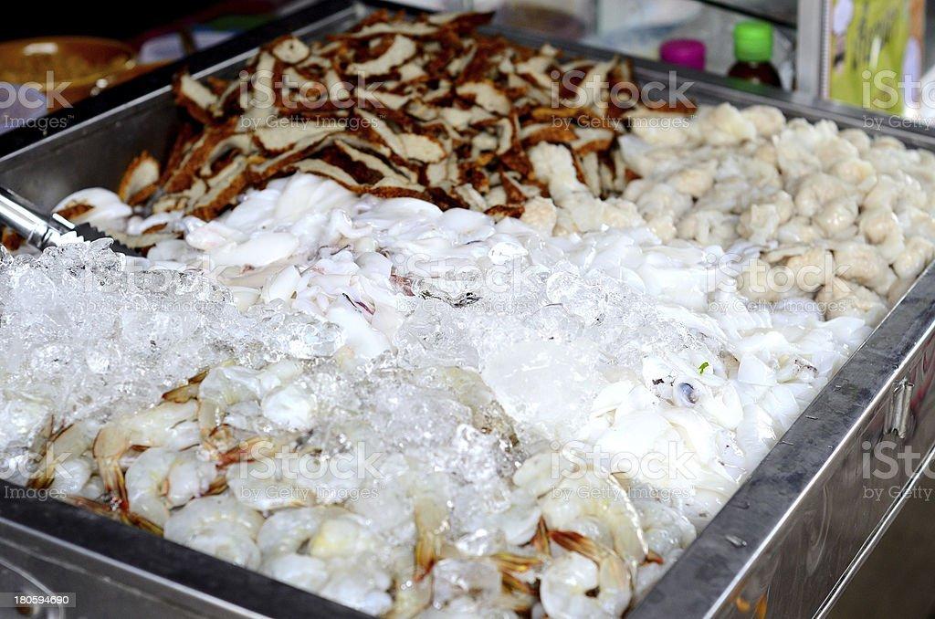 fresh mixed seafood royalty-free stock photo