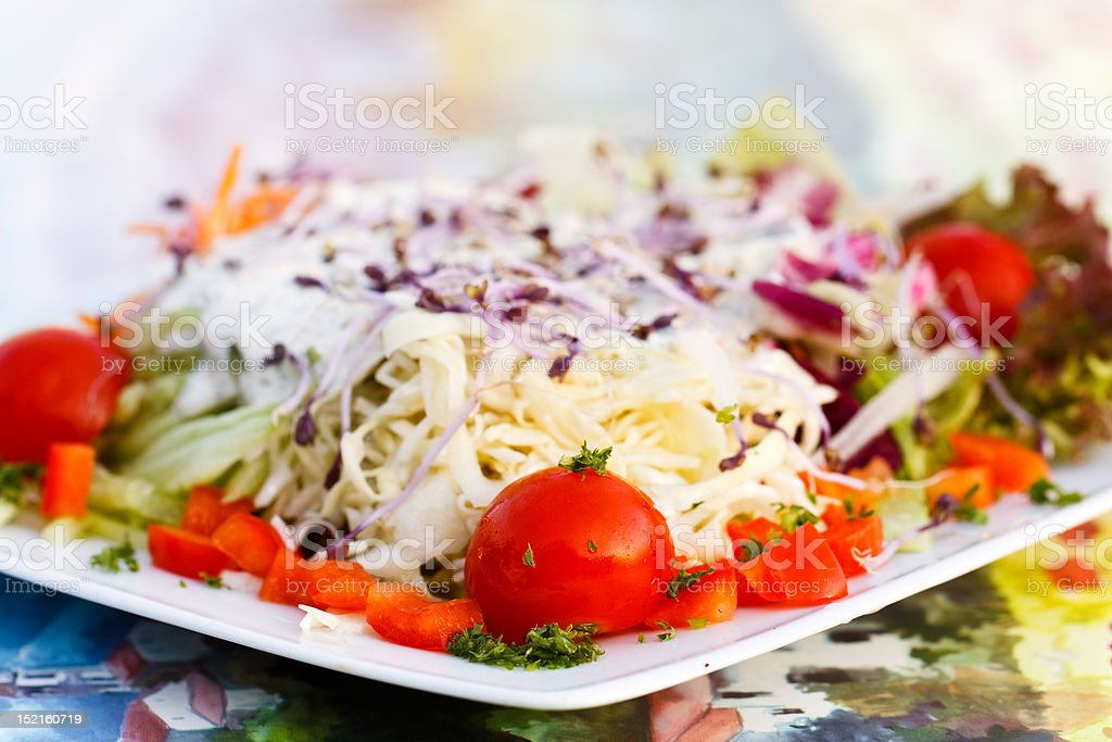 Fresh mixed summer salad royalty-free stock photo