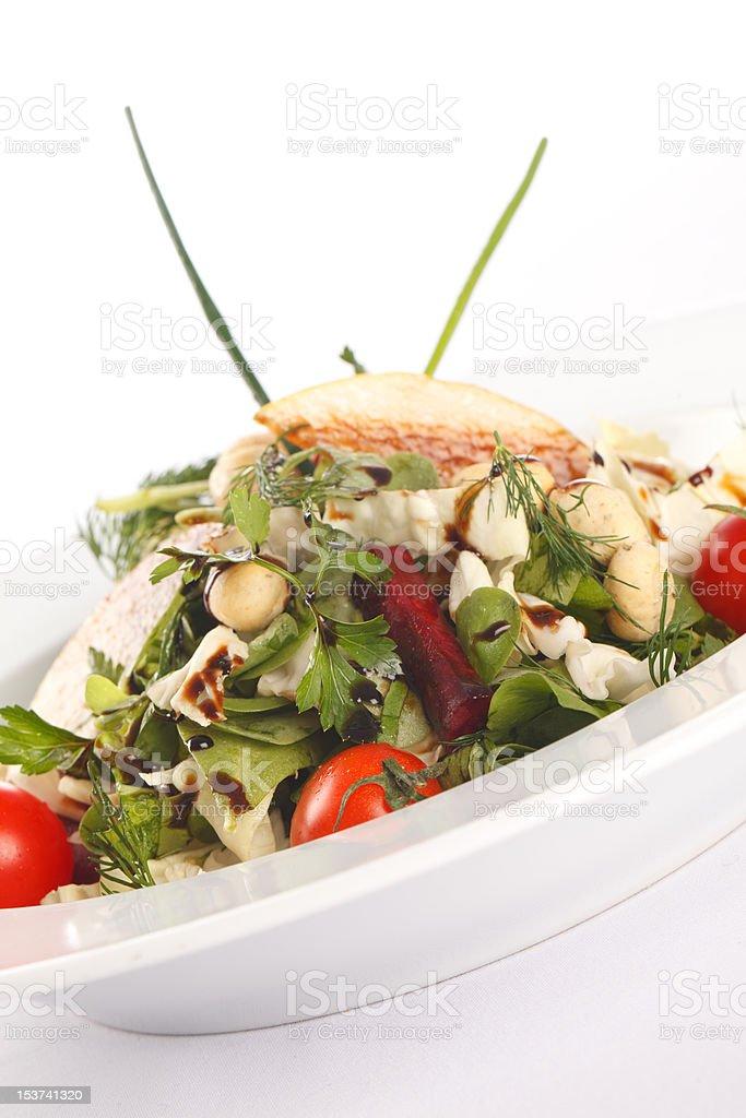 Fresh mixed vegetable salad stock photo