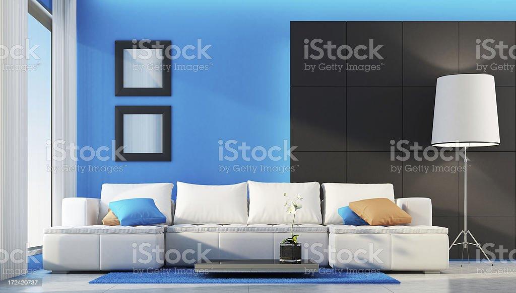 Fresh Modern Living Room royalty-free stock photo