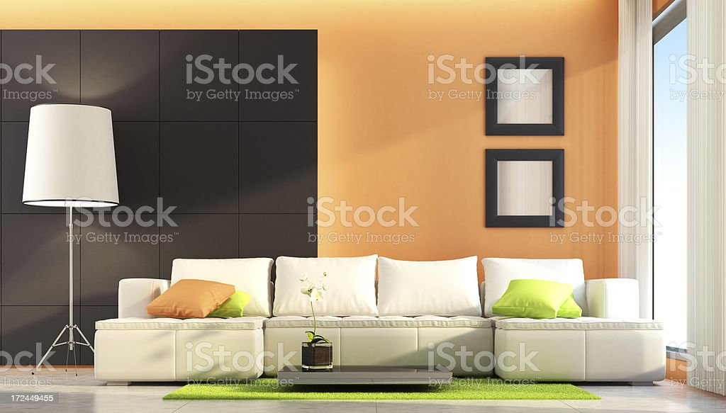 Fresh Modern Living Room royalty-free stock photo