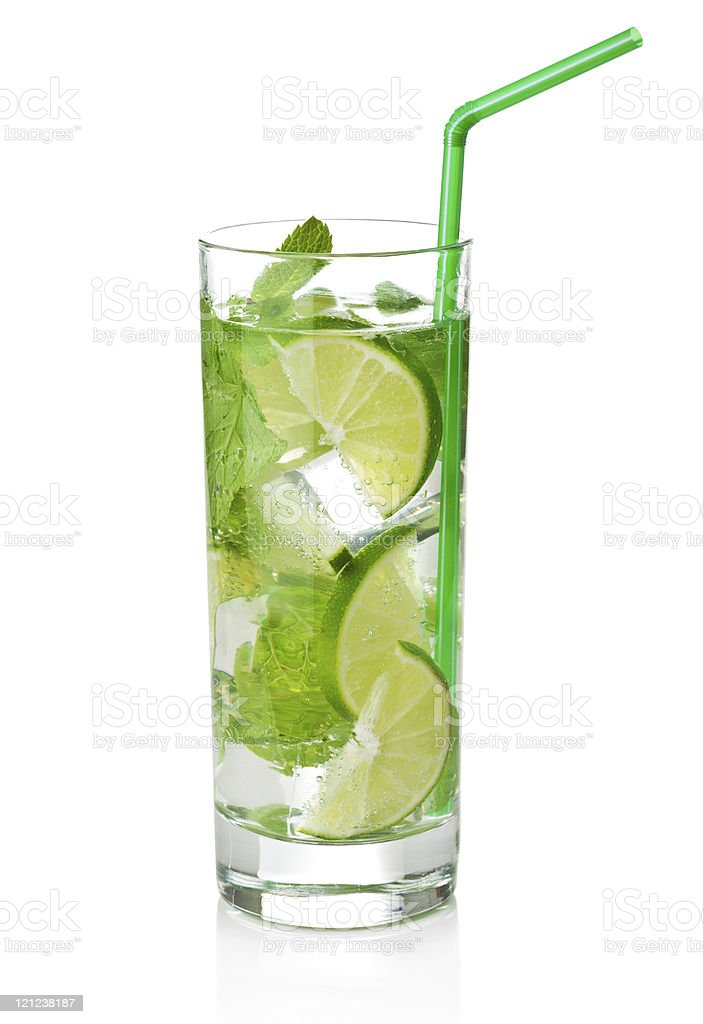 fresh mojito cocktail isolated royalty-free stock photo