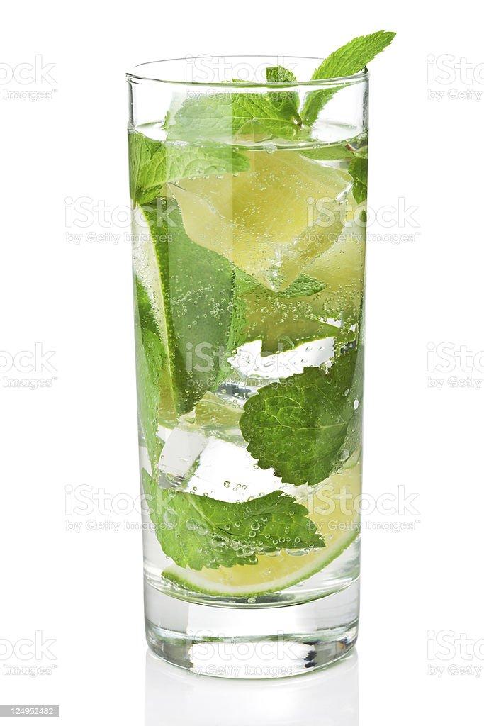 fresh mojito cocktail isolated royalty-free stock photo