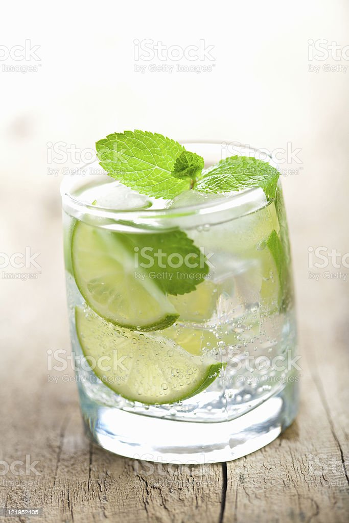 fresh mojito cocktail royalty-free stock photo