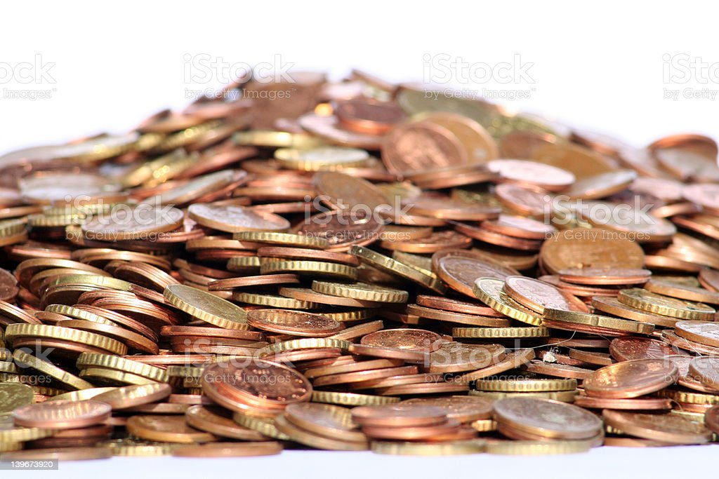 Fresh money coins stock photo