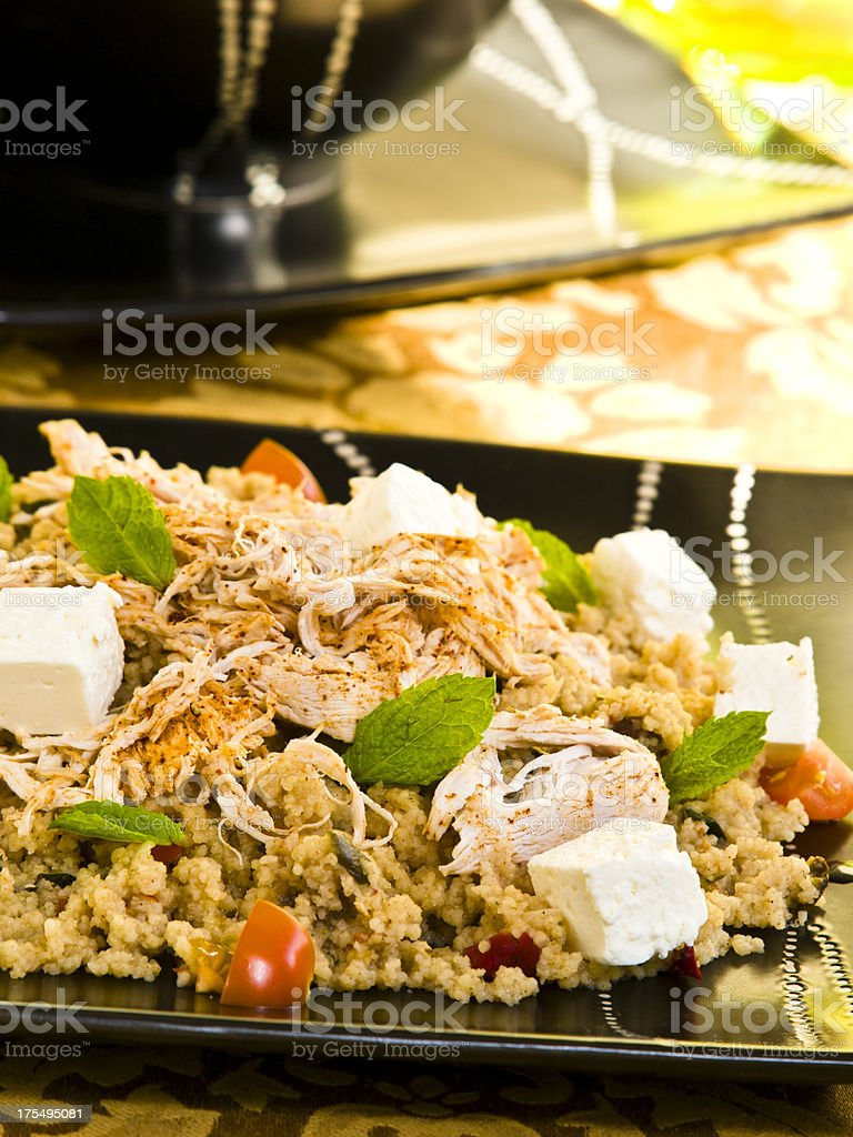 Fresh Moroccan Chicken Couscous stock photo