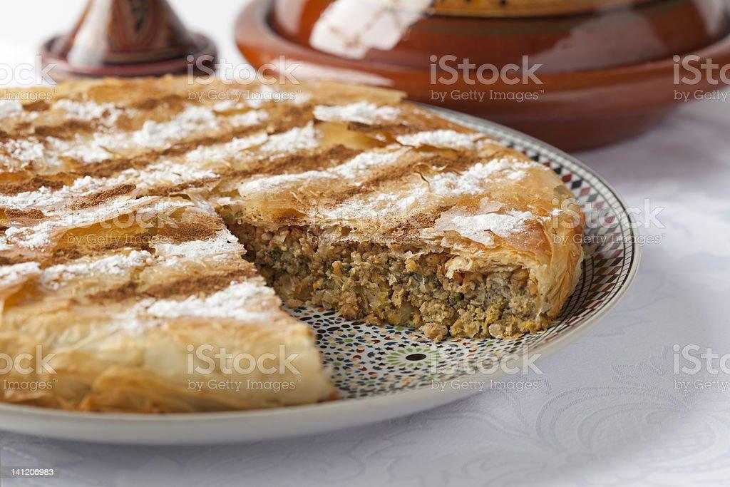 Fresh Moroccan Pastilla royalty-free stock photo