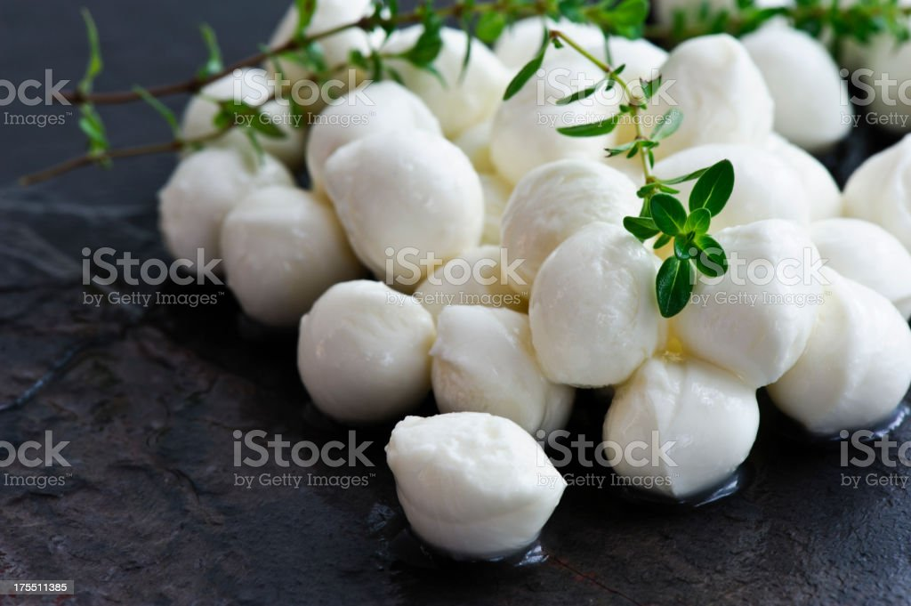 Fresh mozzarella cheese stock photo
