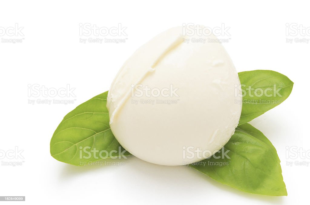 Fresh Mozzarella. stock photo